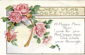 Joan1Happy New Year Post Card