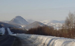 Facing Sugarloaf Mountain in the Campbellton region. (Photo courtesy Ken Murray.)