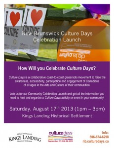 Join us for the Culture Days countdown kick-off at King's Landing.