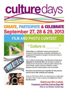 Culture Days NB contest