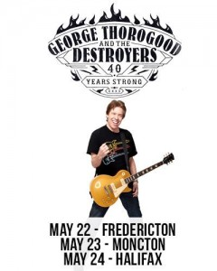 George Thorogood and the Destroyers roll through New Brunswick in May 2014.
