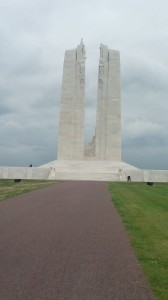 A photo Aidan took when he travelled to Vimy Ridge with a group.