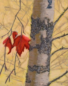 """Autumn"" - Pastel on illustration board. ""One of those moments when everything seemed right. I love the simplicity of this one."""