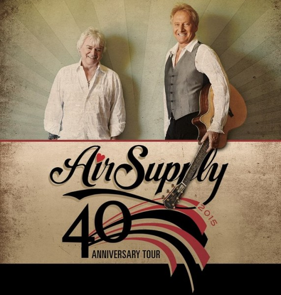 Air Supply performs at Casino NB in Moncton on July 17th, 2015.